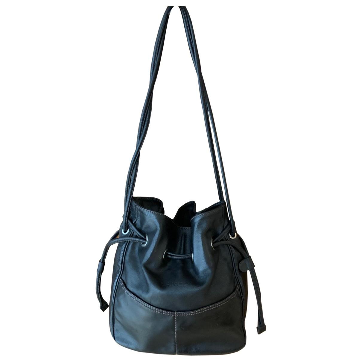 Lancel - Sac a main   pour femme en cuir - noir