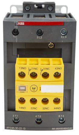 ABB Jokab AFS 3P Safety Relay, 100 → 250 V dc, 100 → 250 V @ 50/60 Hz, 130 A, 600 V ac