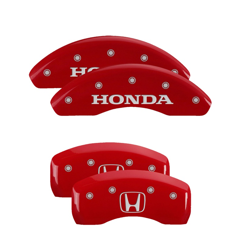 MGP Caliper Covers 20206SHOHRD Set of 4: Red finish, Silver Honda / H Logo Honda CR-Z 2011-2016