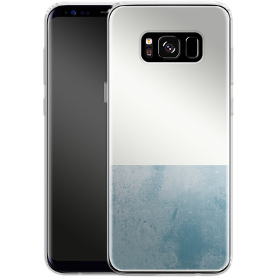 Samsung Galaxy S8 Silikon Handyhuelle - Colour Block Blue von caseable Designs