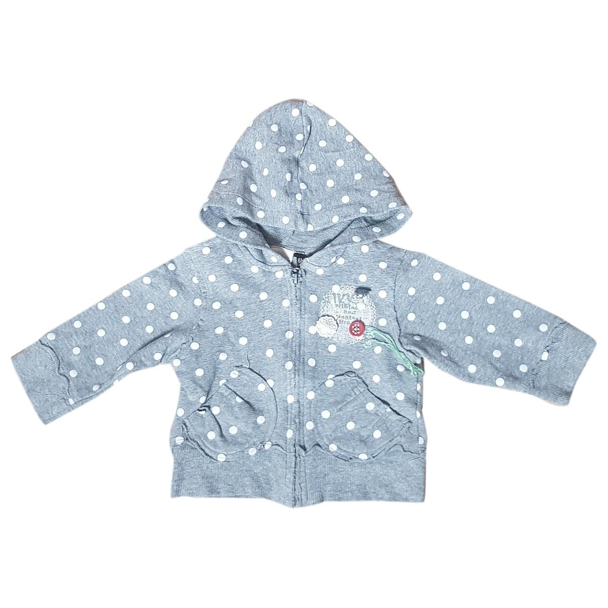 Ikks - Pull   pour enfant en coton - gris