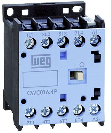 WEG 4 Pole Contactor - 12 A, 230 V ac Coil, 4NO, 5.5 kW