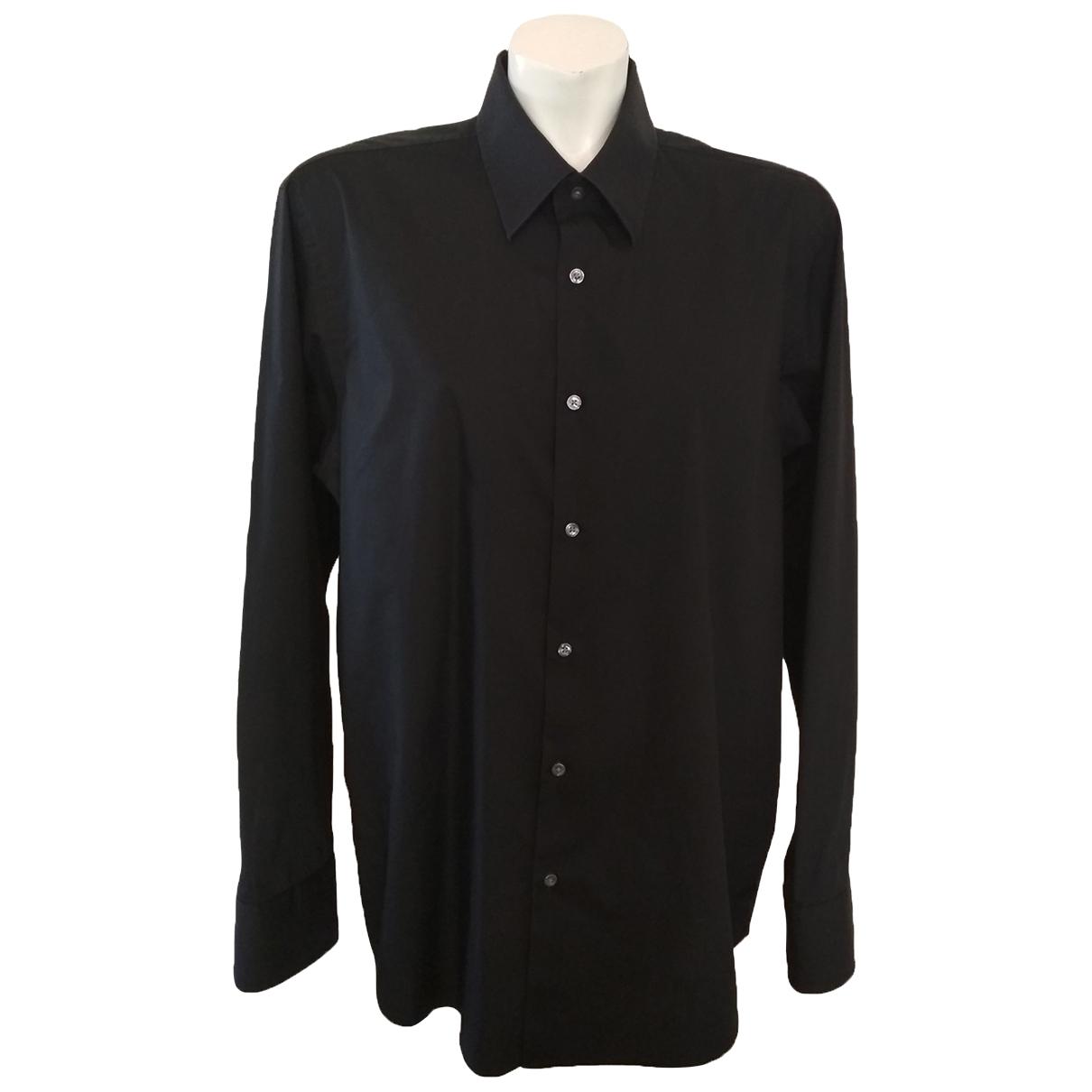 Hugo Boss - Chemises   pour homme en coton - noir