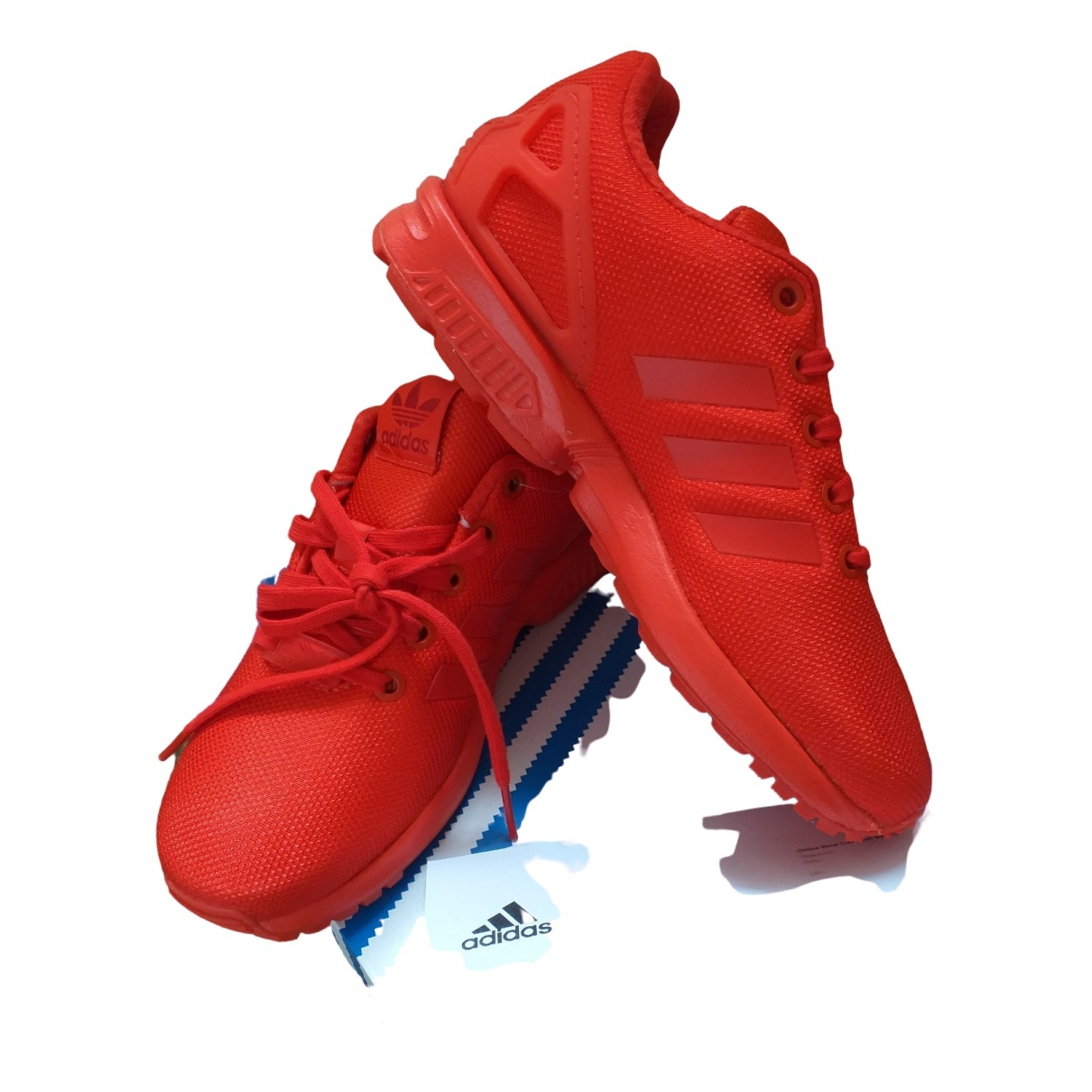 Adidas ZX Sneakers in  Rot Leinen