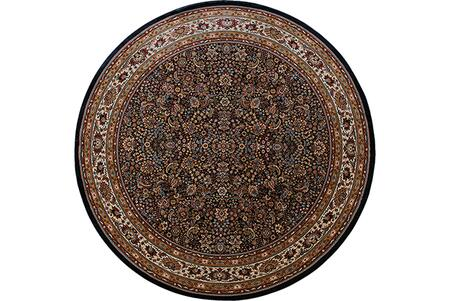 A113B2240240ST 8' Round Rug with Oriental Pattern and PolypropyleneFiber