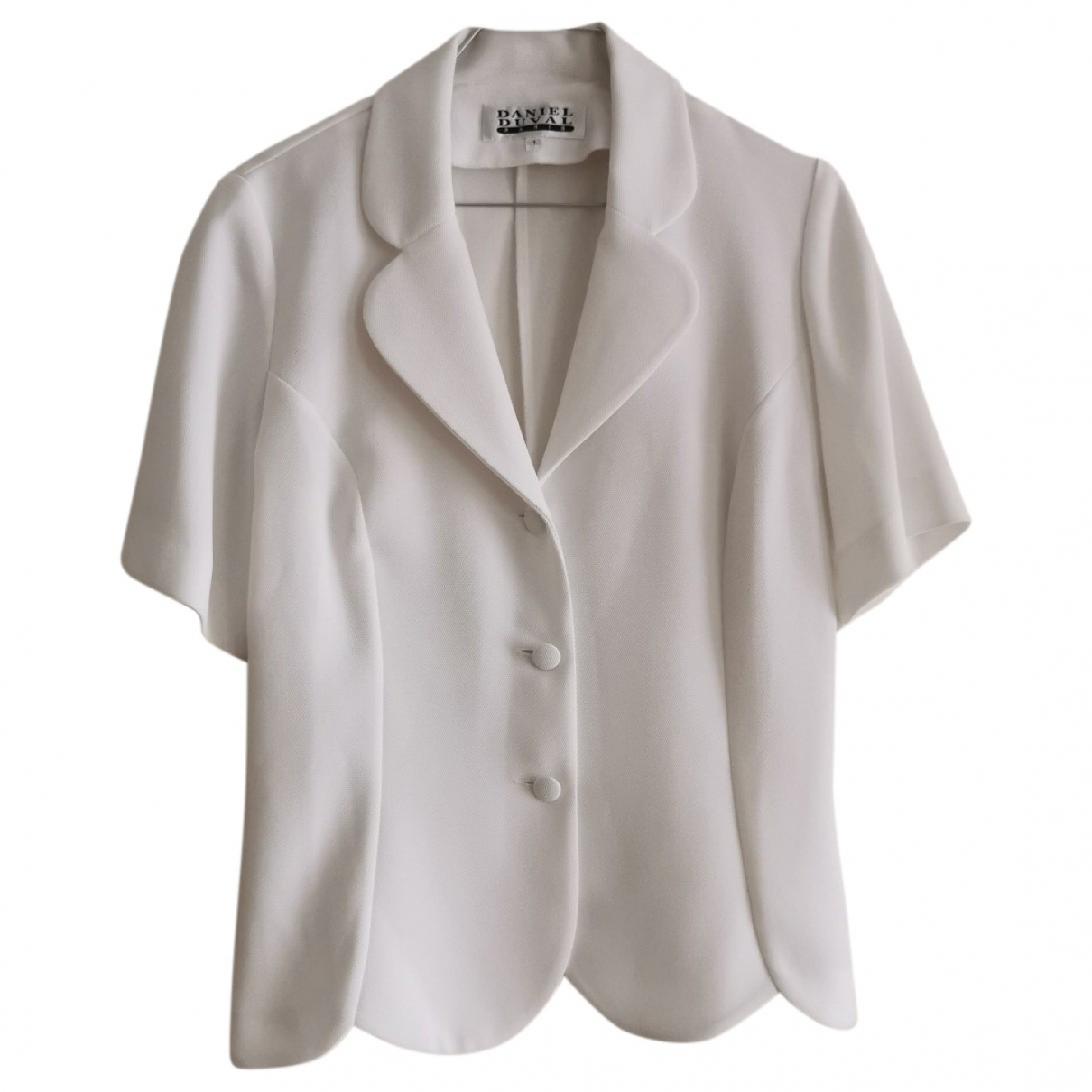 Non Signé / Unsigned N White jacket for Women 38 FR