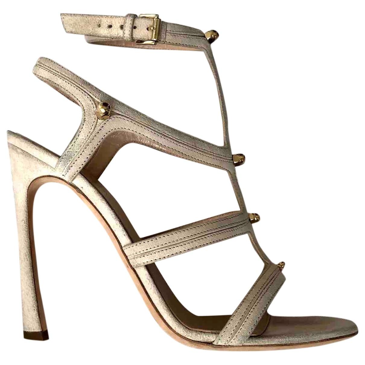 Giambattista Valli \N Beige Suede Sandals for Women 39 EU