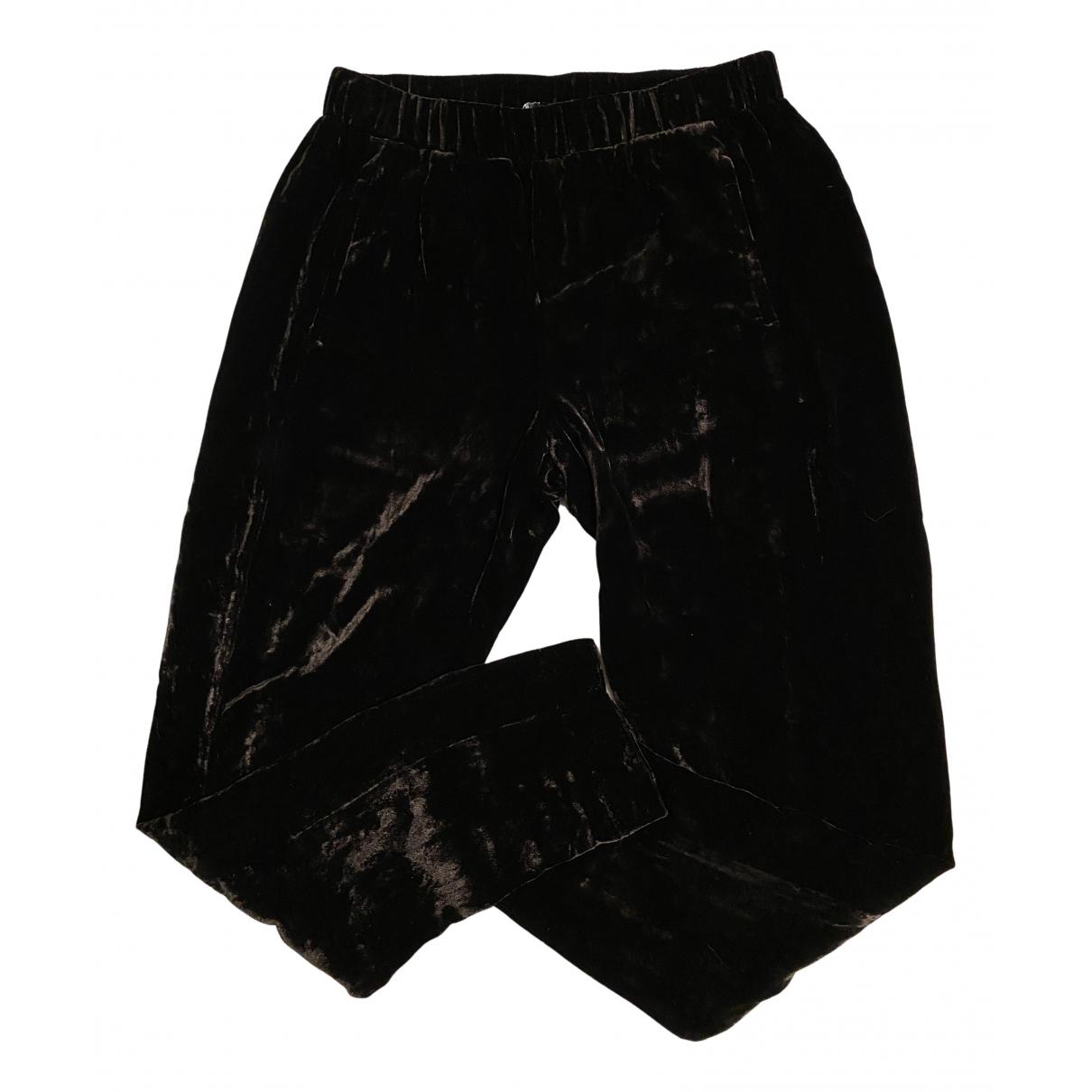 Theory N Black Velvet Trousers for Women S International