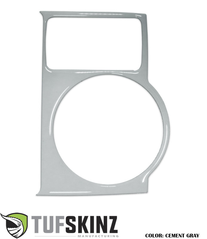 Tufskinz RUN025-GGY-G Center Cup Holder with Shifter Boot Accent Trim Fits 14-up Toyota 4Runner 1 Piece Kit Cement Gray