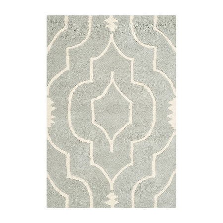 Safavieh Crane Geometric Hand Tufted Wool Rug, One Size , Gray