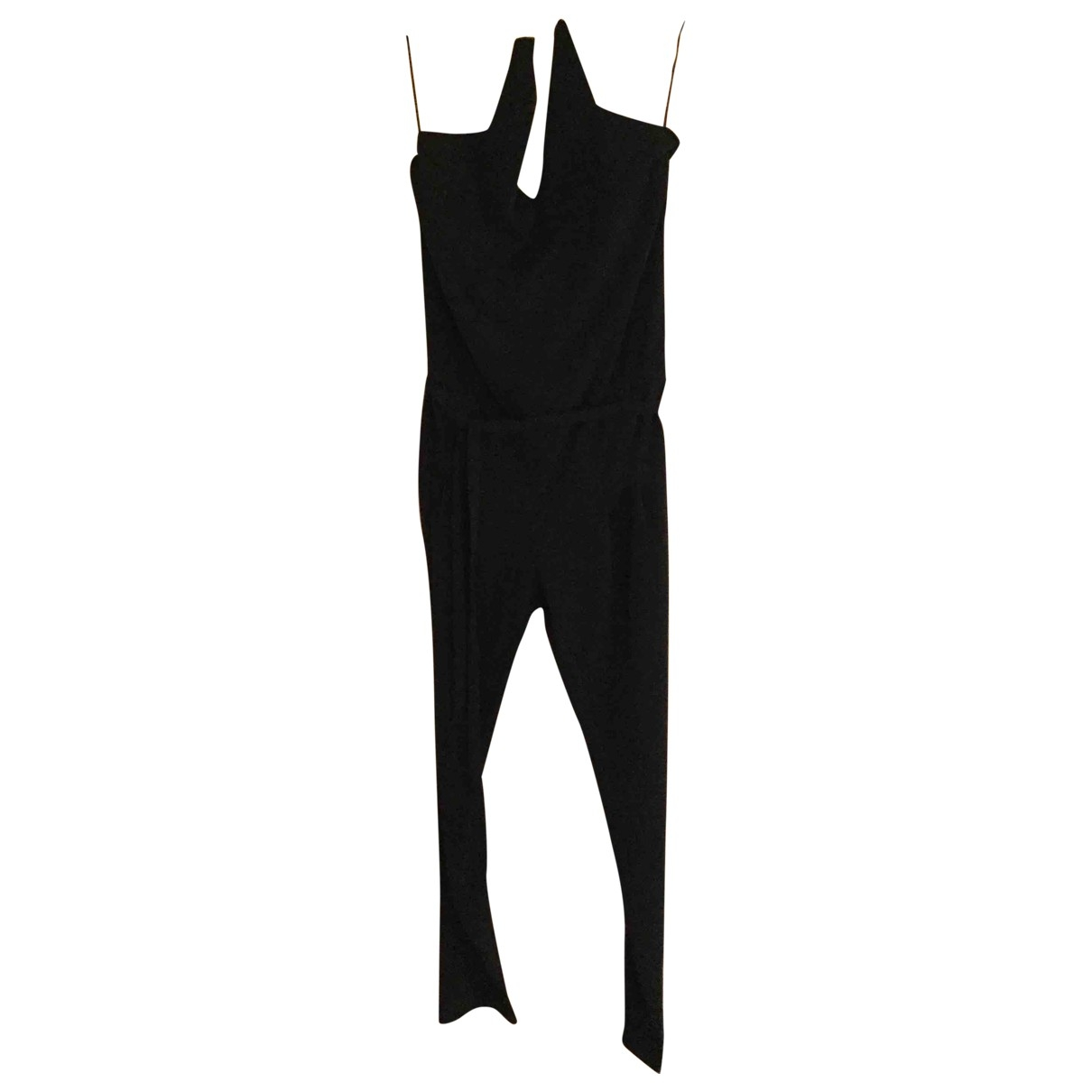 Non Signe / Unsigned \N Jumpsuit in  Schwarz Polyester