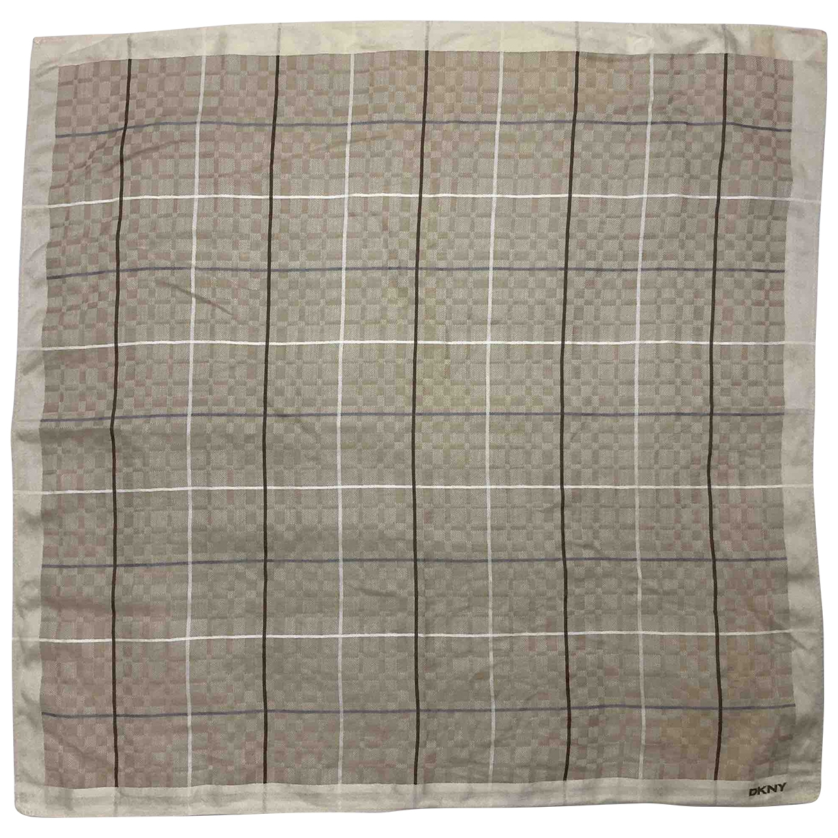Dkny \N Khaki Cotton scarf & pocket squares for Men \N