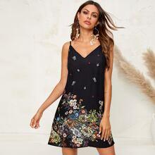 Cami Kleid mit Blumen Muster