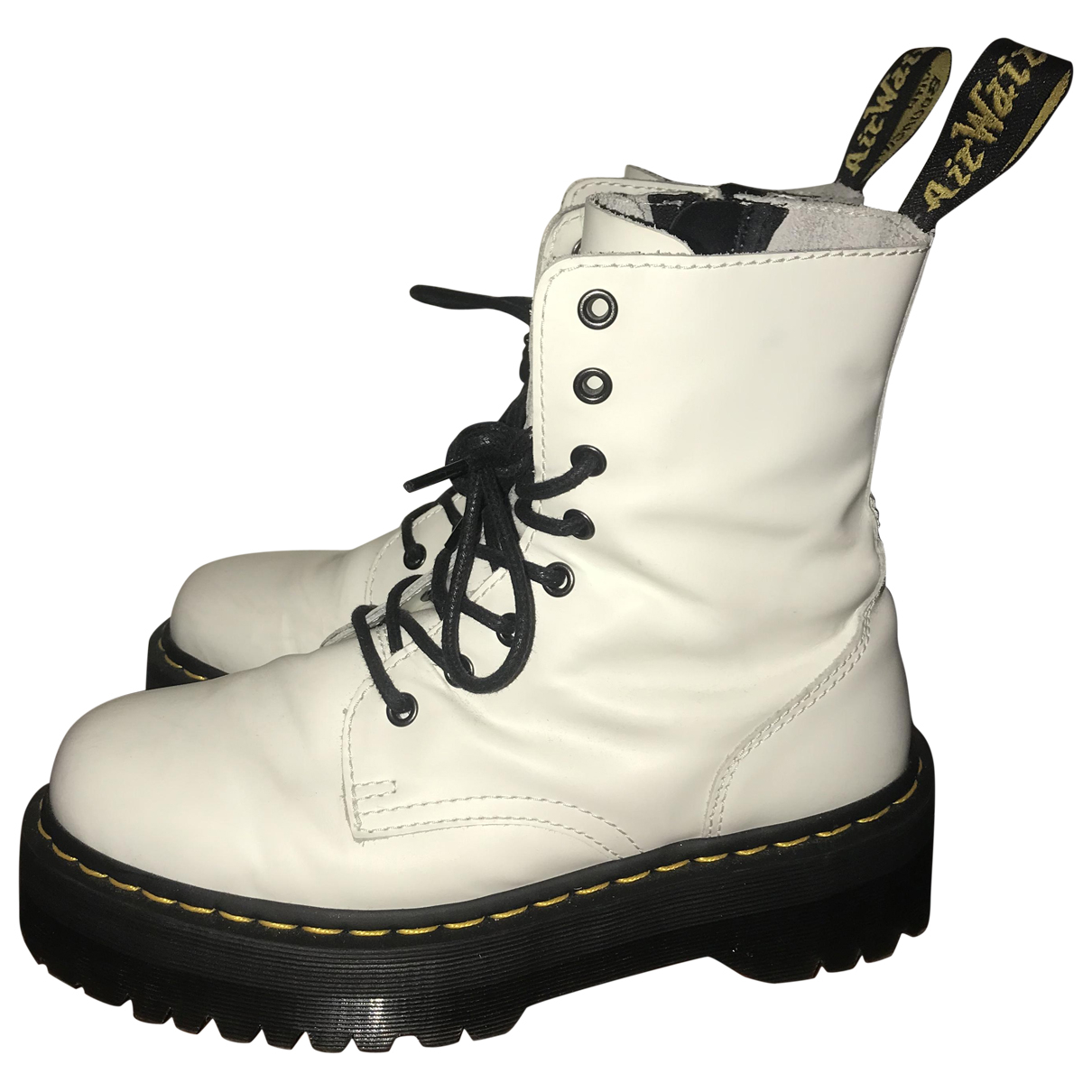 Dr. Martens Jadon White Leather Ankle boots for Women 41 EU
