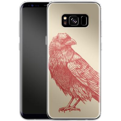Samsung Galaxy S8 Silikon Handyhuelle - Red Raven von Terry Fan