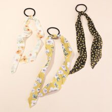 3pcs Ditsy Floral Pattern Hair Tie