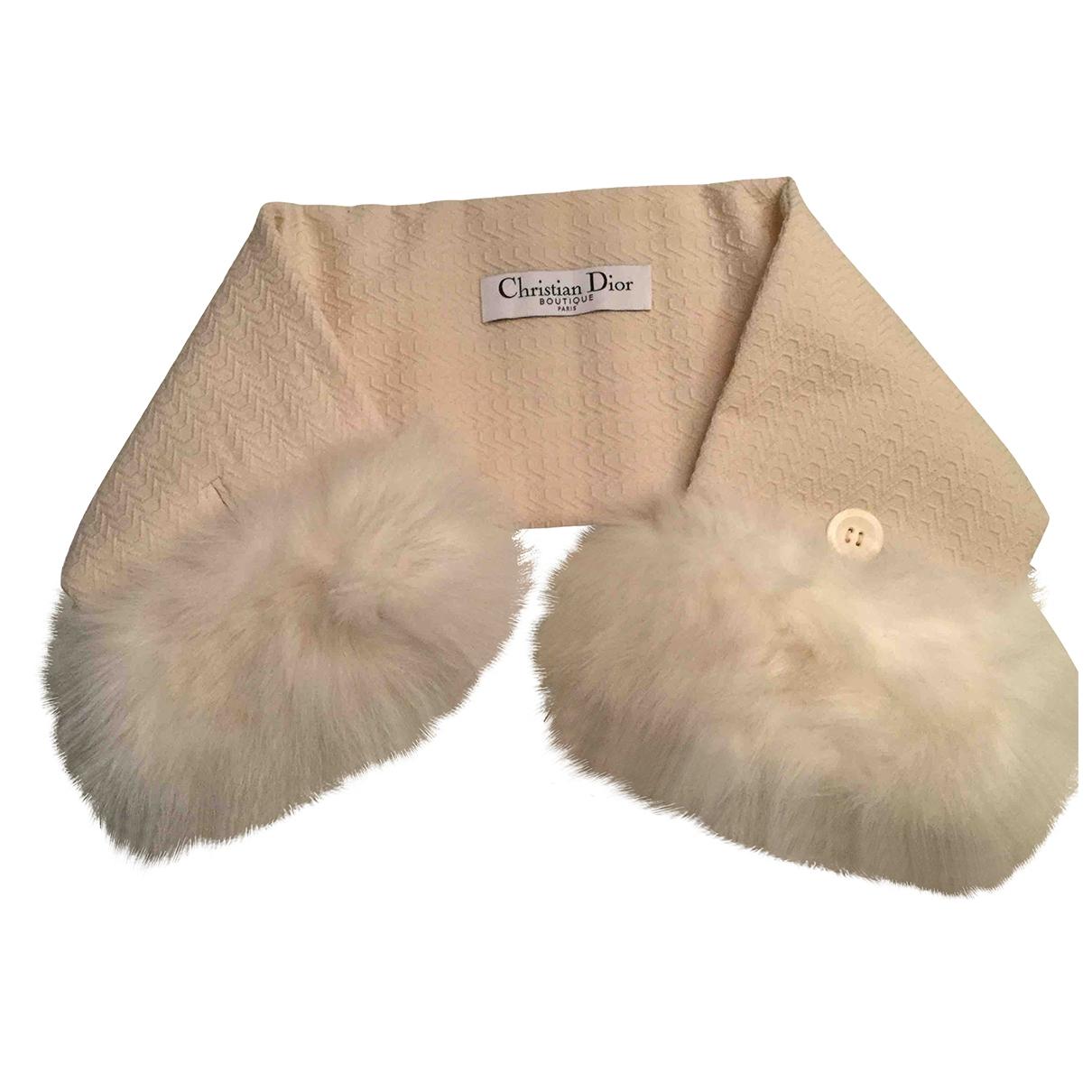 Dior \N Ecru Fox scarf for Women \N
