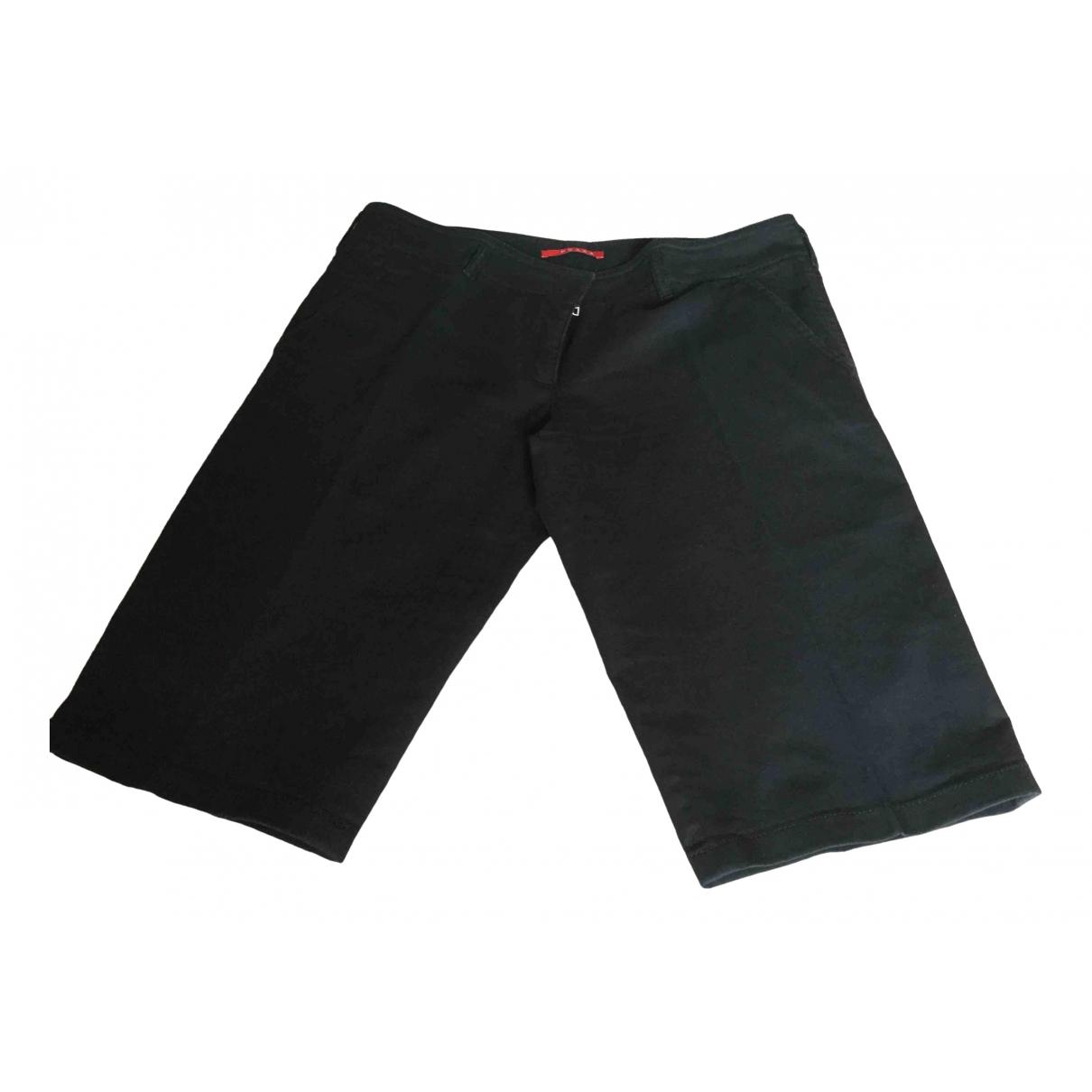 Prada \N Shorts in  Schwarz Baumwolle