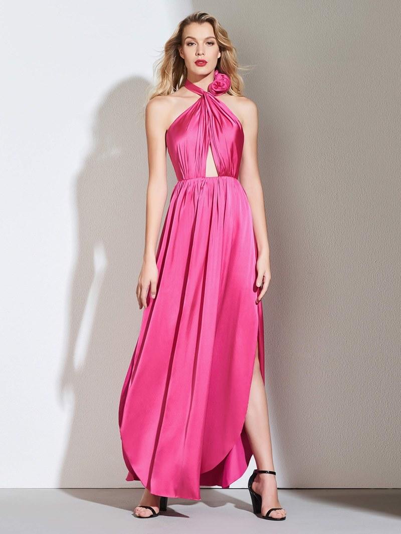 Ericdress A Line Halter Pleats Backless Prom Dress