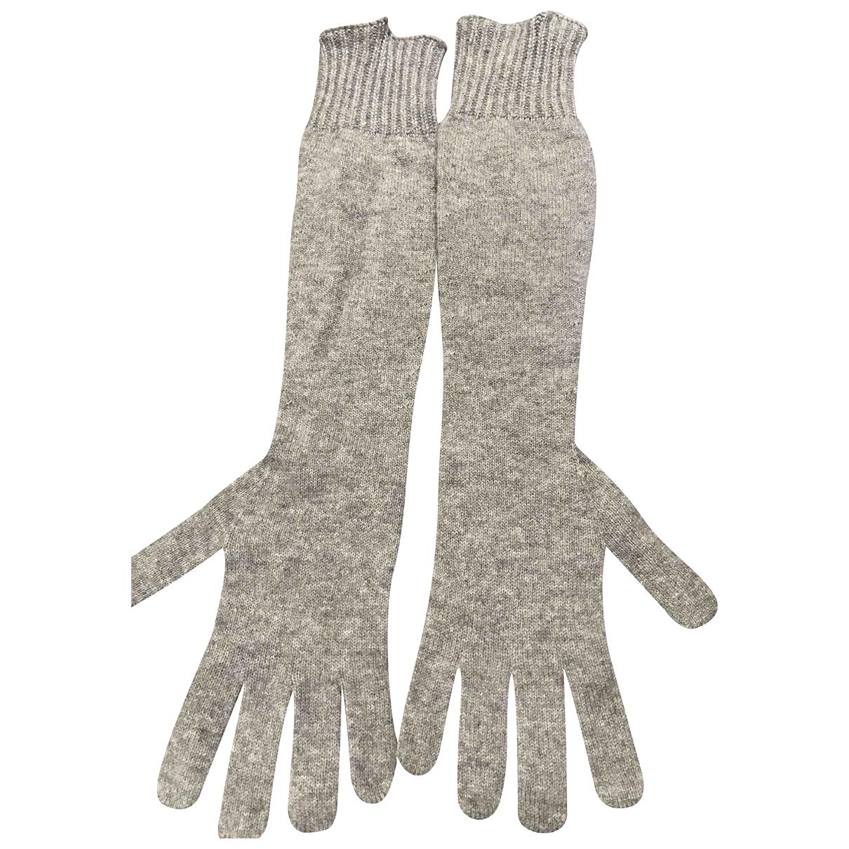 Twin Set \N Handschuhe in  Grau Kaschmir