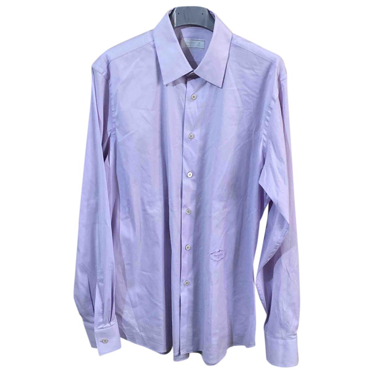 Prada N Cotton Shirts for Men 40 EU (tour de cou / collar)