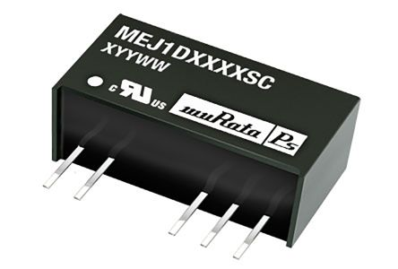 Murata Power Solutions MEJ1 1W Isolated DC-DC Converter Through Hole, Voltage in 10.8 → 13.2 V dc, Voltage out