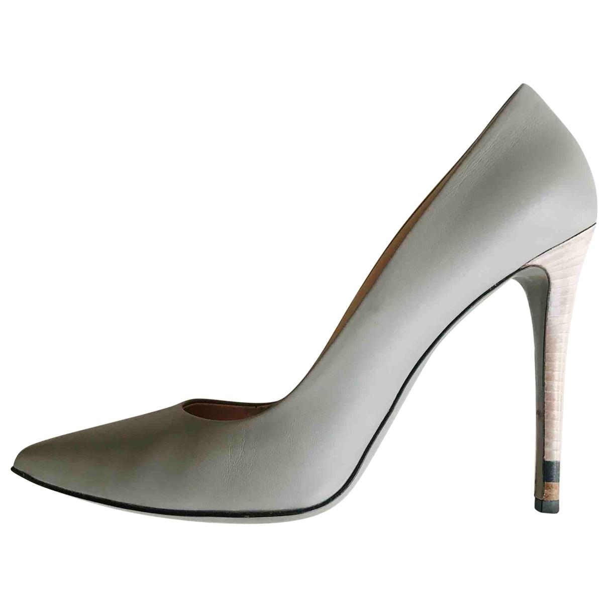 Fendi \N Grey Leather Heels for Women 41 IT