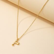 Metal Letter Charm Necklace