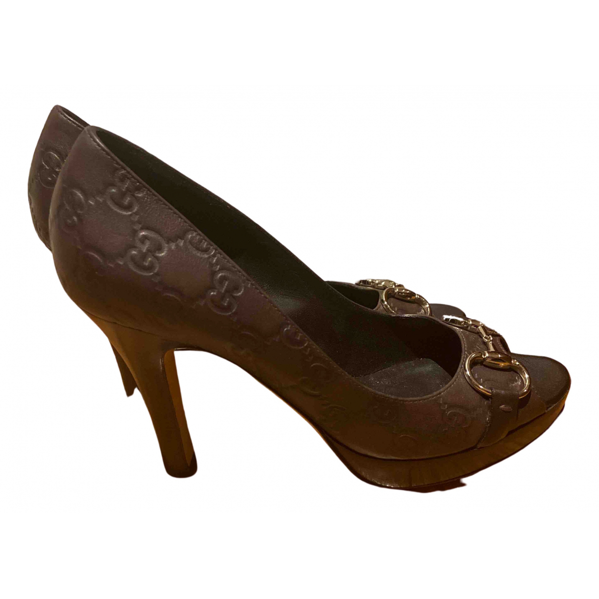 Gucci \N Brown Leather Heels for Women 38.5 EU
