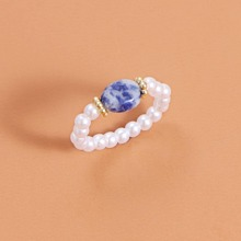 Faux Pearl Beaded Ring