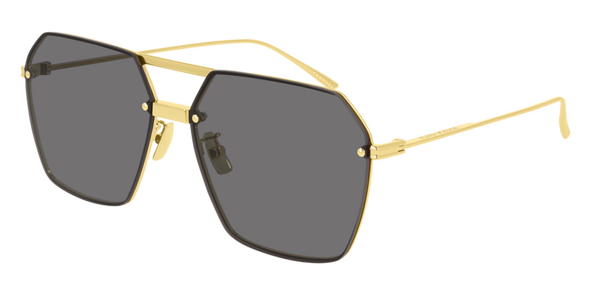 Bottega Veneta BV1045S 001 Women's Sunglasses Gold Size 61
