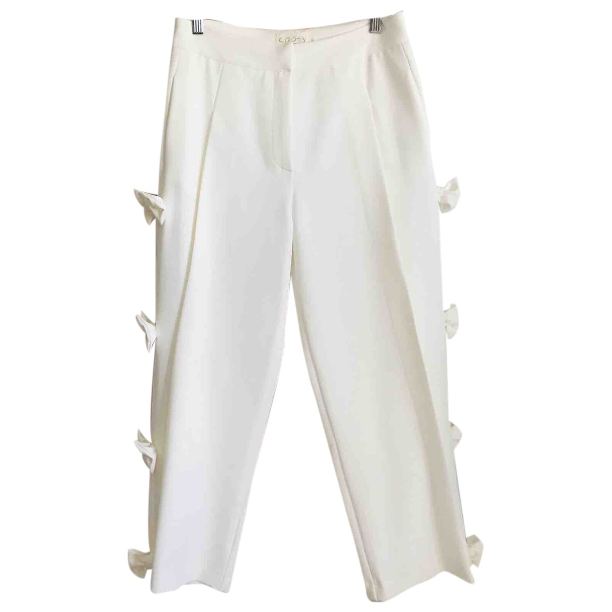 Coosy N White Trousers for Women M International