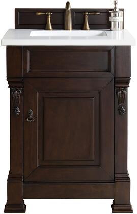 Brookfield Collection 147-114-V26-COK-3ODSC 26 Country Oak Single Vanity with 3 CM Santa Cecilia Top with Oval