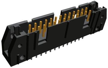 TE Connectivity , AMP-LATCH, 26 Way, 2 Row, Vertical PCB Header