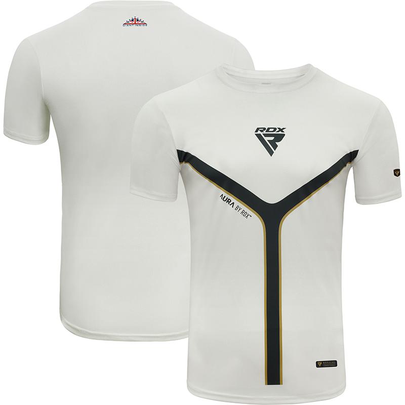RDX T17 Aura T-shirt Blanc a Manches Courtes Moyenne blanc Polyester