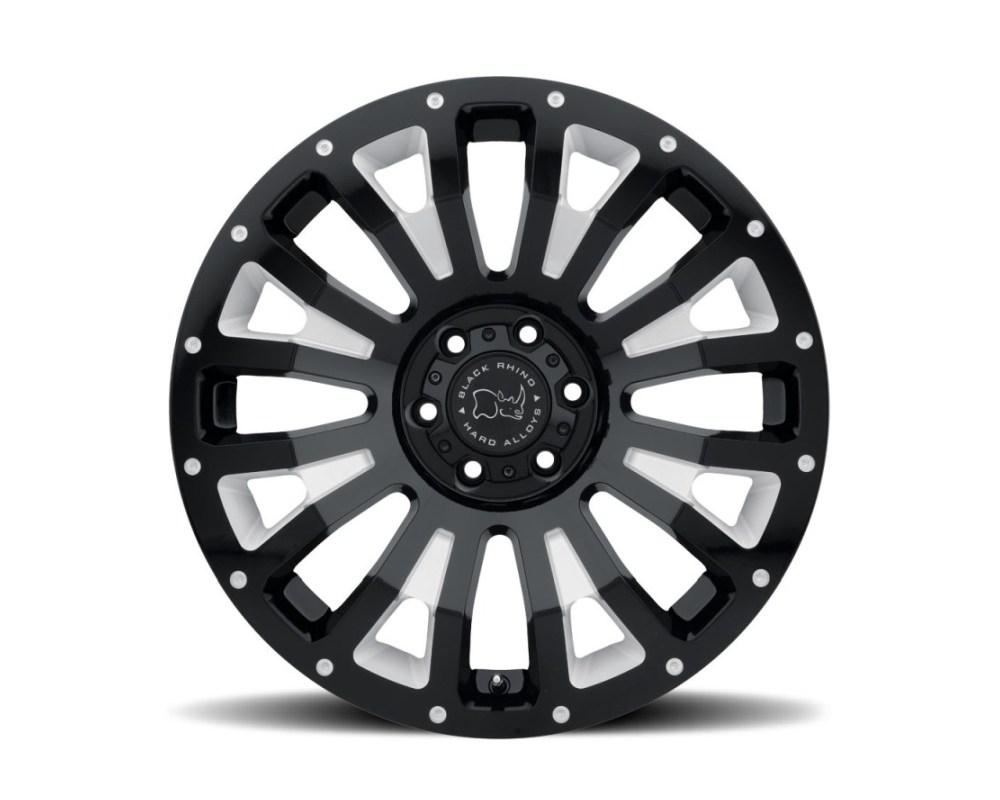 Black Rhino Pinatubo Gloss Black w/ Milled Inside Window Wheel 17x9.5 6x135 6mm CB87.1