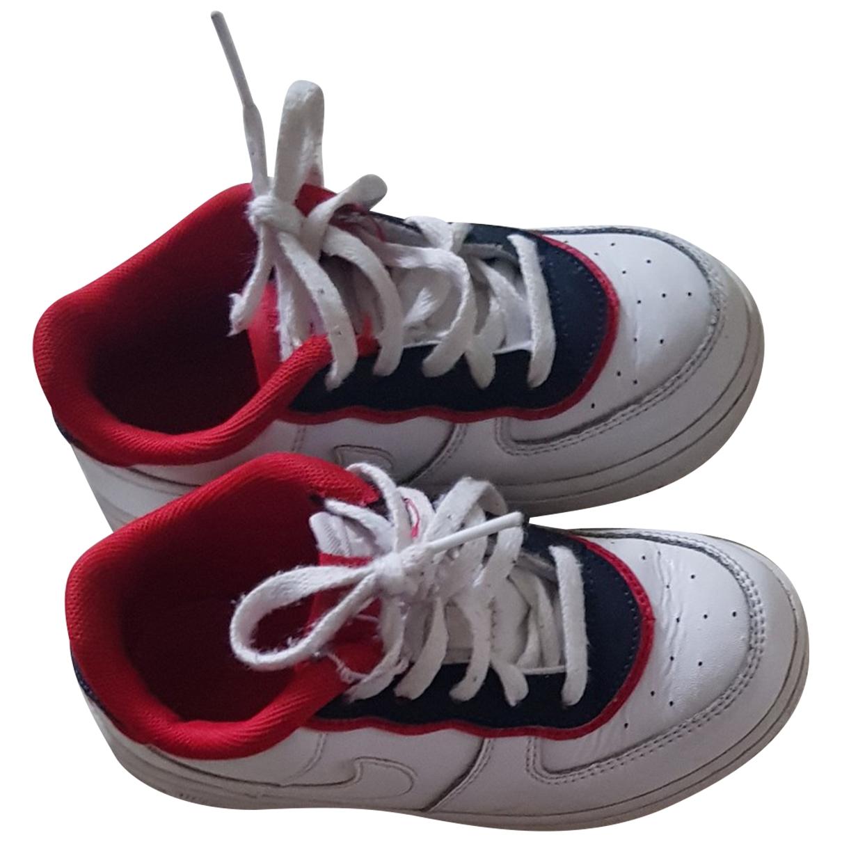 Nike Air Force 1 White Cloth Trainers for Kids 27 EU