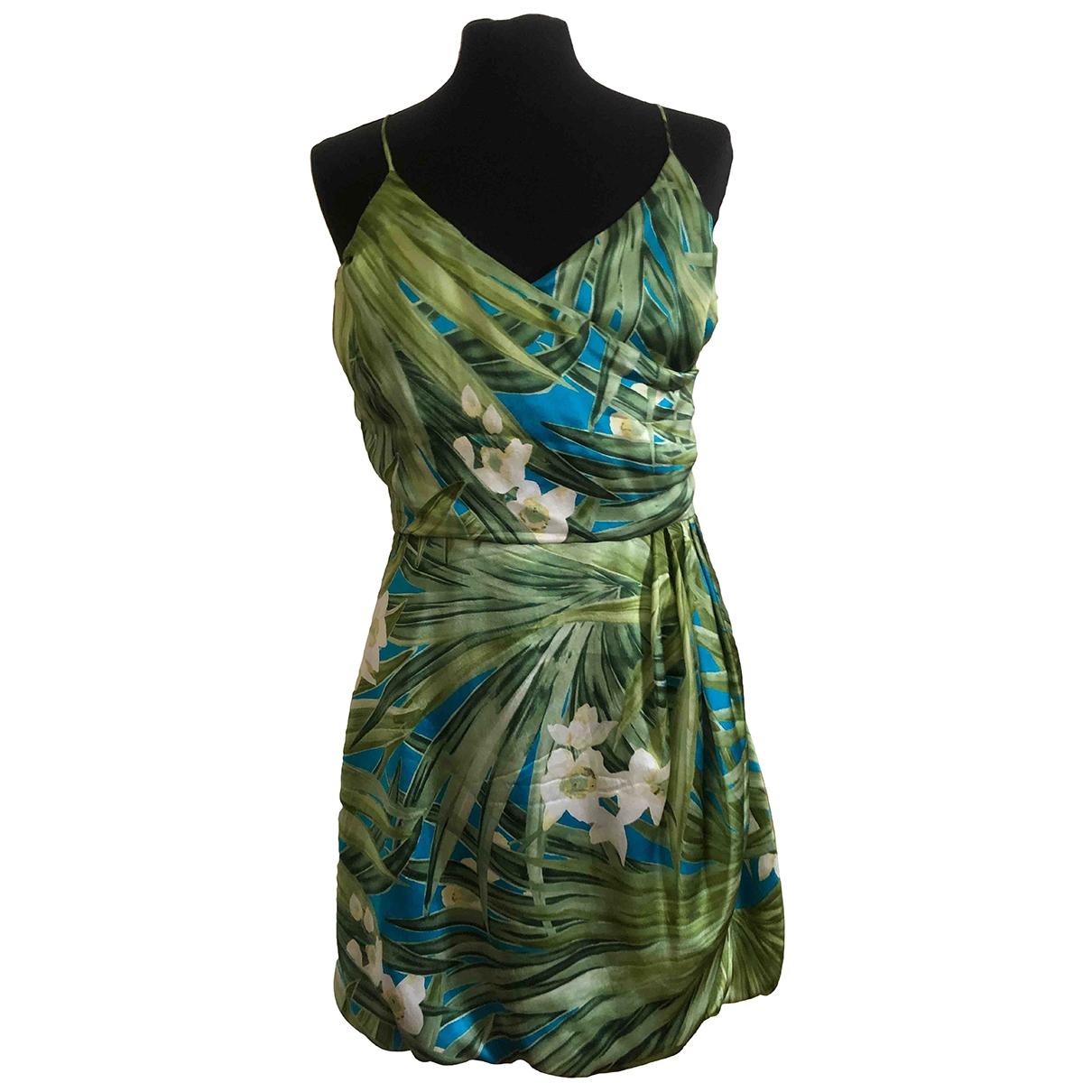 Blumarine \N Green Silk dress for Women 44 IT