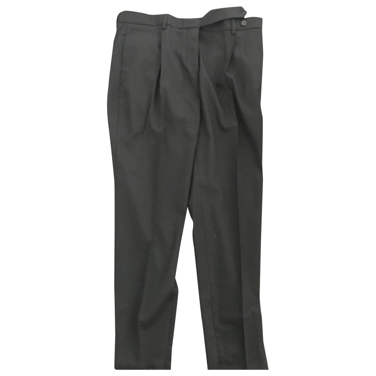 Prada \N Black Wool Trousers for Women 46 IT