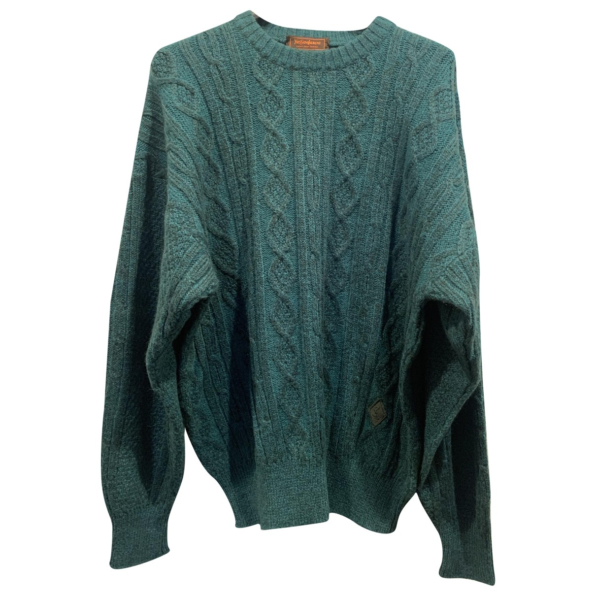 Yves Saint Laurent \N Pullover.Westen.Sweatshirts  in  Gruen Wolle