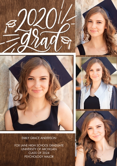 2020 Graduation Announcements 5x7 Cards, Standard Cardstock 85lb, Card & Stationery -2020 Grad Simple Script by Tumbalina