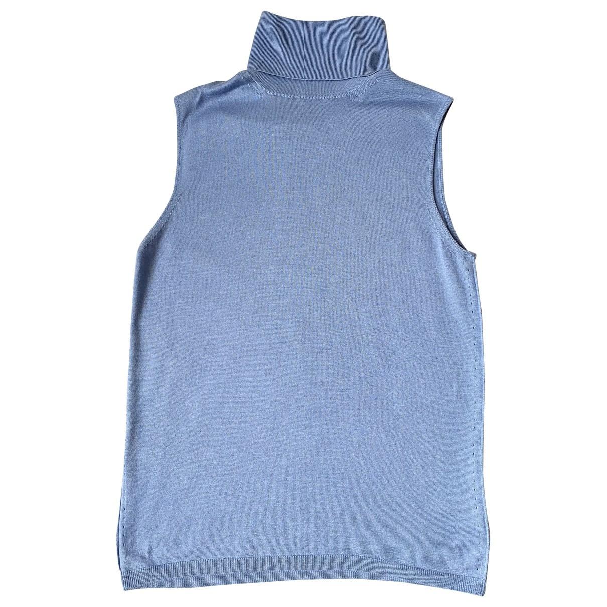 Cruciani - Pull   pour femme en cachemire - bleu
