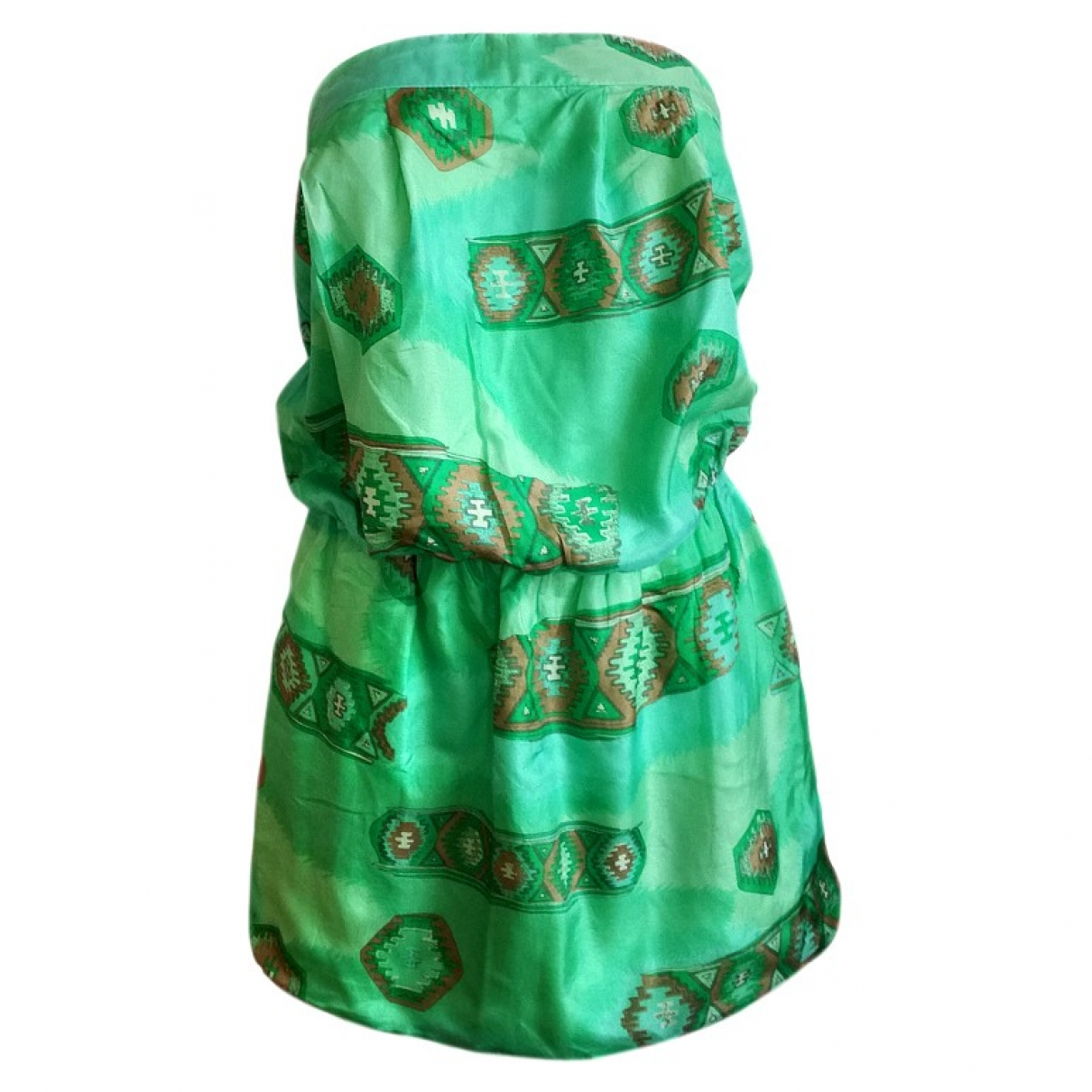 Koshka Mashka - Robe   pour femme en soie - vert