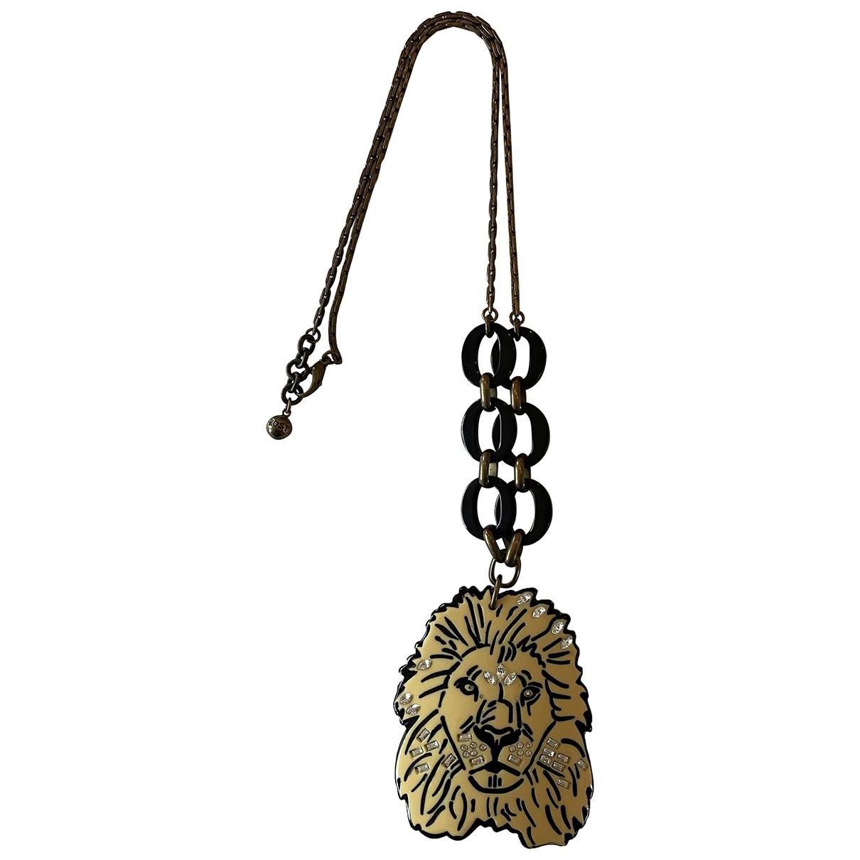 Non Signe / Unsigned Motifs Animaliers Halskette in  Gelb Metall