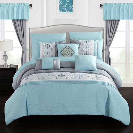 Chic Home Emily 20-pc. Comforter Set, One Size , Blue