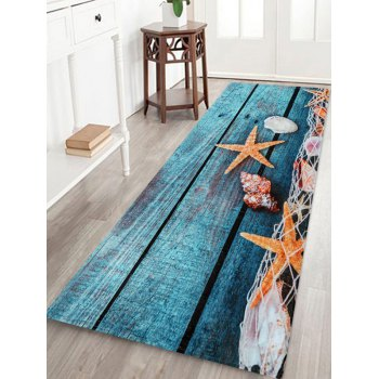 Starfish Wood Grain Pattern Floor Mat