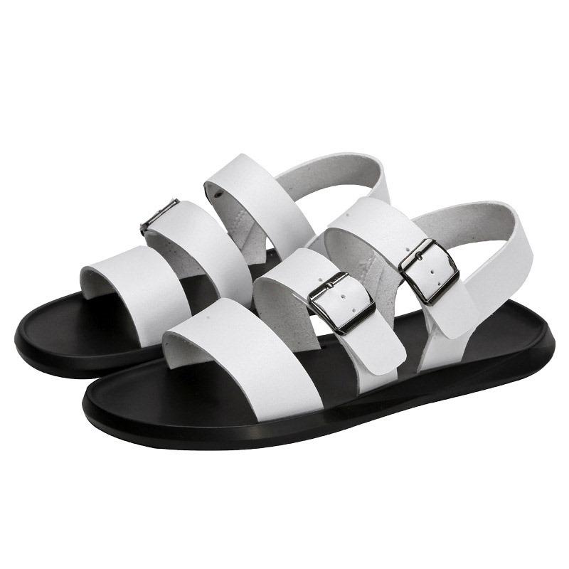 Ericdress PU Buckle Men's Flat Sandals
