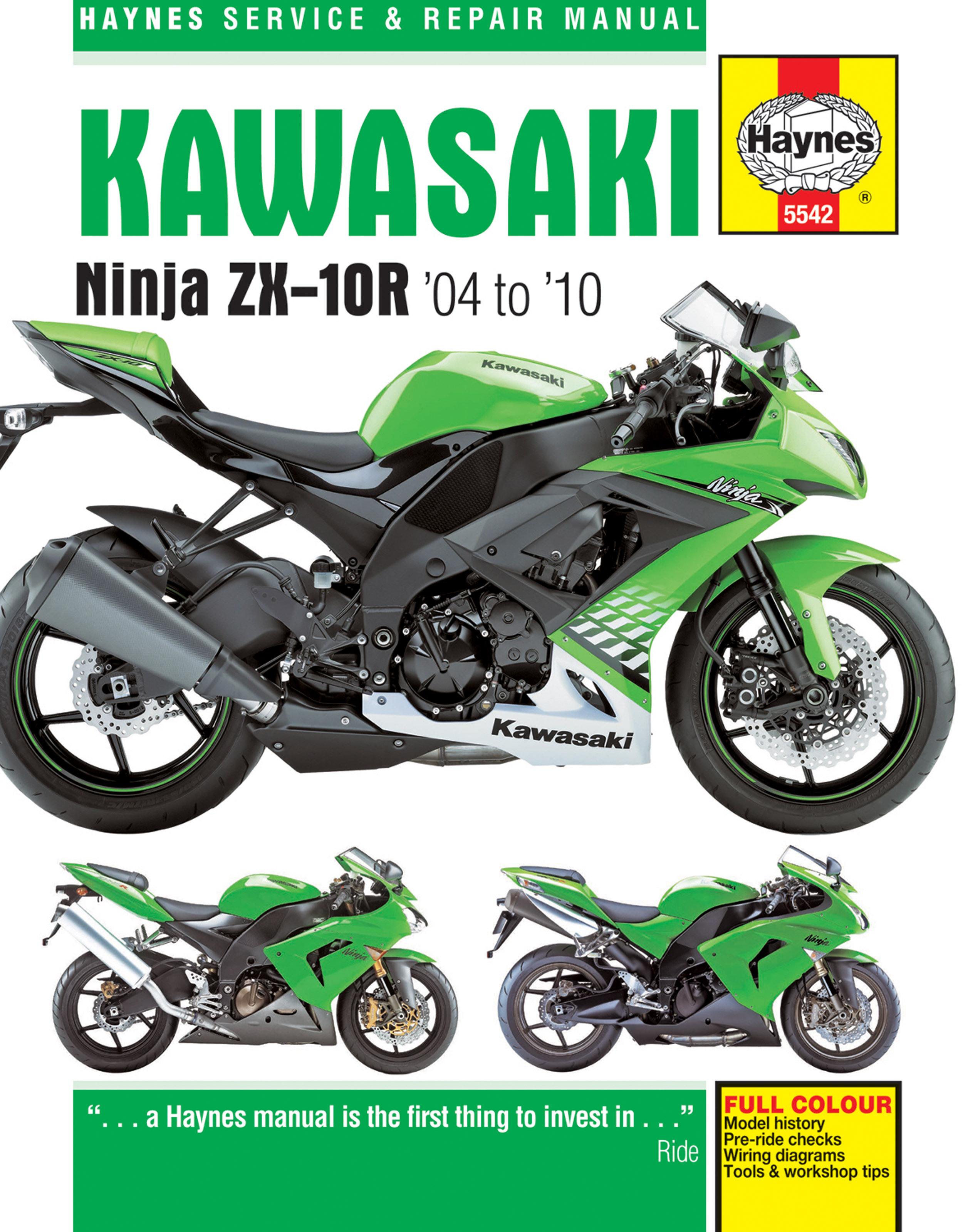 Kawasaki ZX-10R (04-10) Haynes Repair Manual