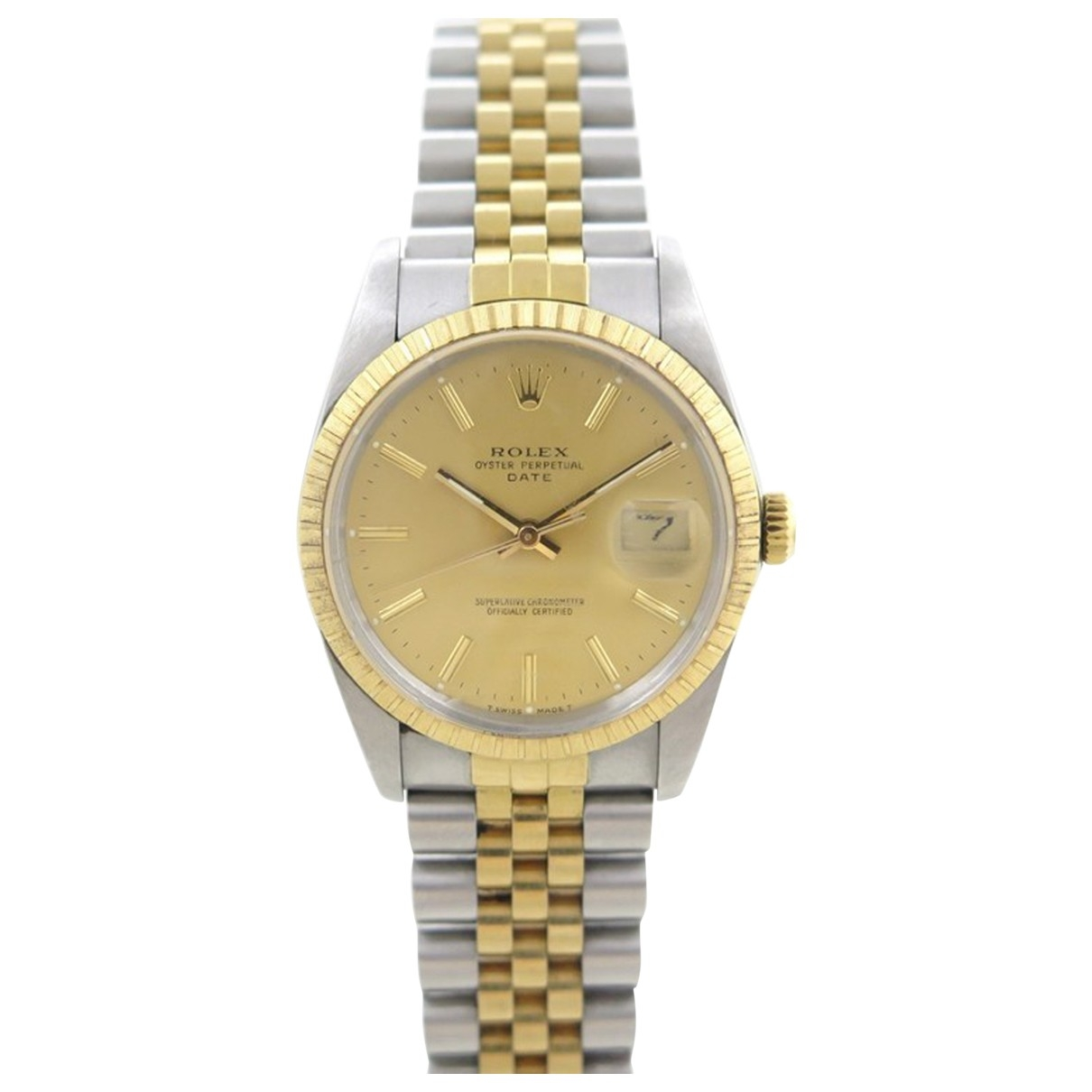 Rolex Oyster Perpetual 34mm Silver gold and steel watch for Men \N