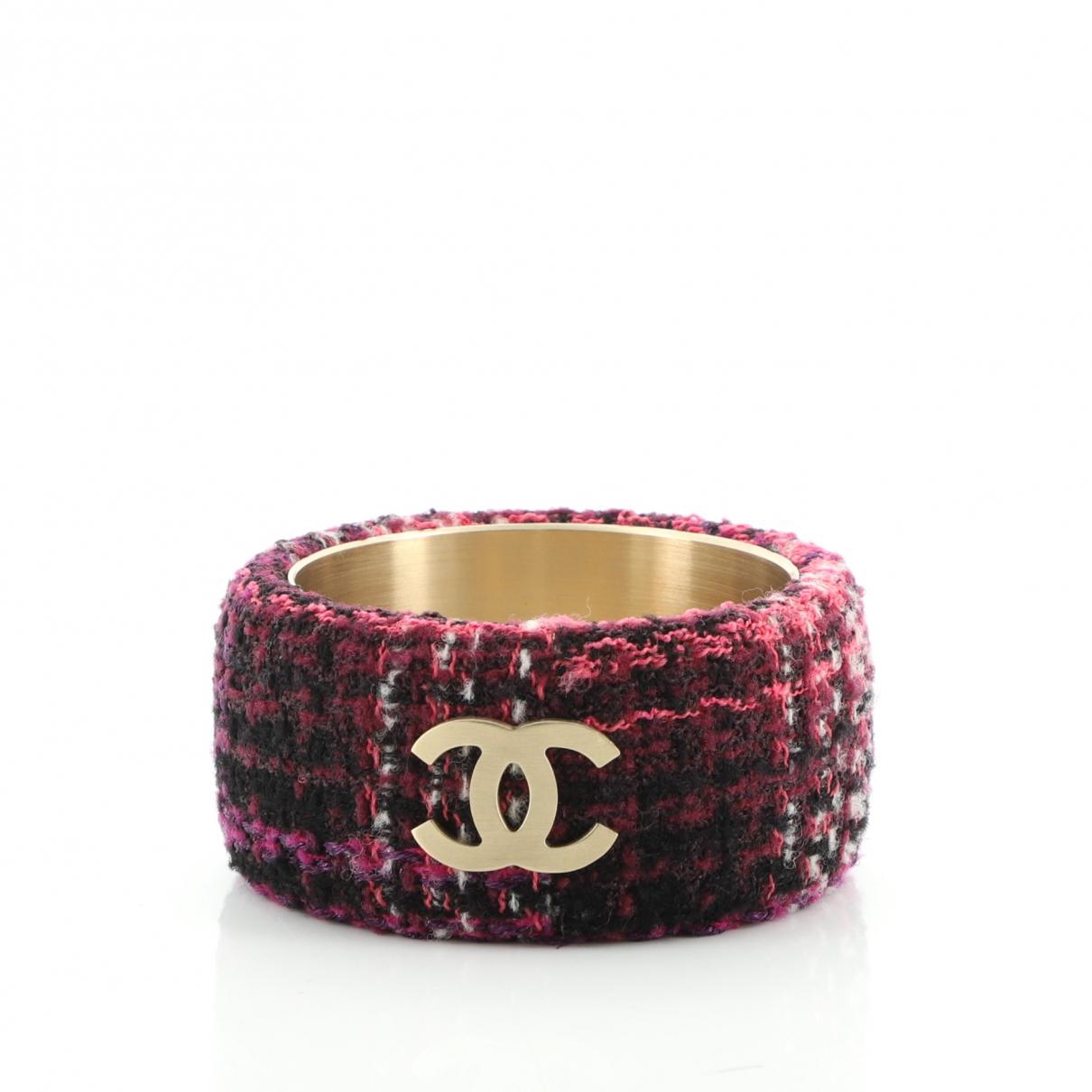 Chanel - Bracelet   pour femme en cuir - violet